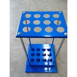 Mop Stand Blue Metal Holds up to 12 handles